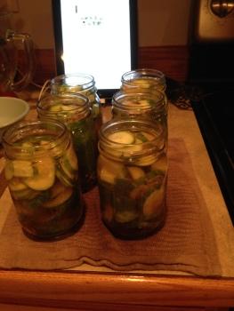 Adding Brine to Jars