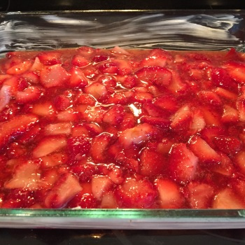 Strawberries in dish